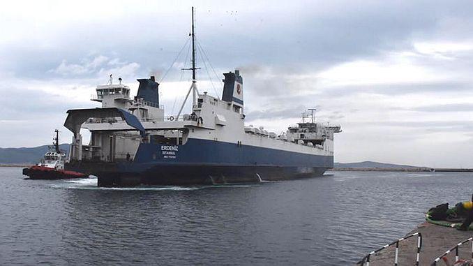 erdeniz ferry bandirma tekirdag train ferry trial flights began