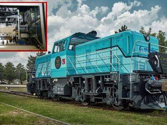 Sehemu muhimu ya locomotive ilifanywa na kubadilisha fedha traction.
