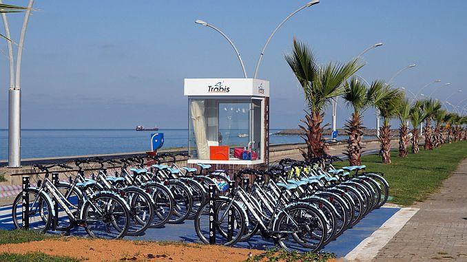 trabzonun yeni bisiklet yolu hizmete giriyor