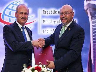 وقعت بروناي تركيا للاتفاق بين النقل الجوي
