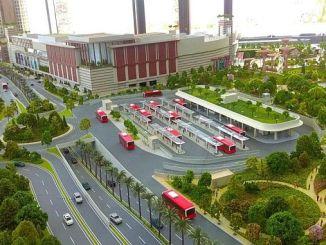 κέντρο μεταφοράς και χώρο στάθμευσης