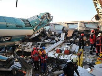 high-speed train crash in Iraq and there are wounded