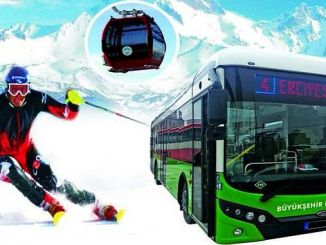 erciyes ski center bus service starts