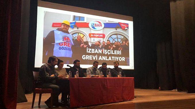 Izban-arbejdere mødtes med izmir-folk