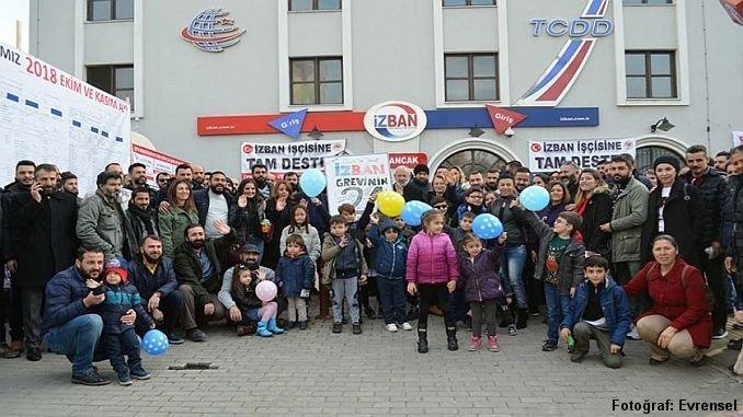 Izban og metroarbejdere lavede en årlig begivenhed i strejkeområdet 1