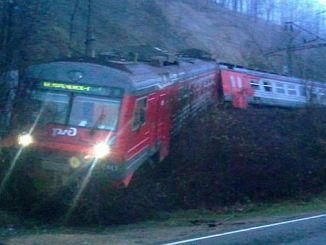 land registratie in Wit-Rusland bleek een gevolg van de passagierstrein ontspoord zijn