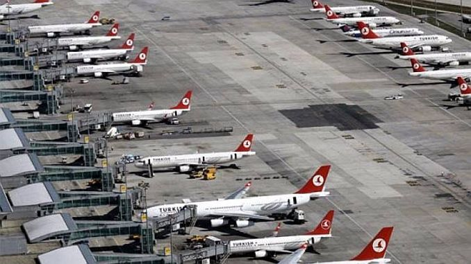 turkey has reached the highest traffic ratio to the European airspace