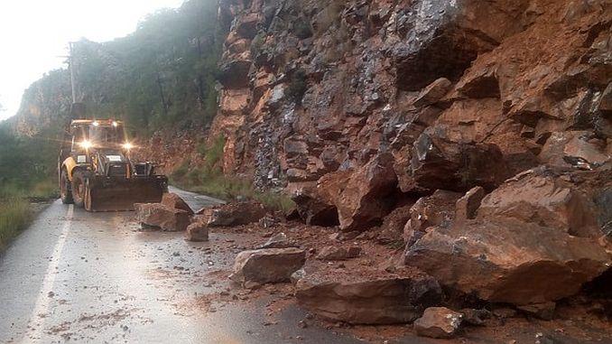 snow and landslide