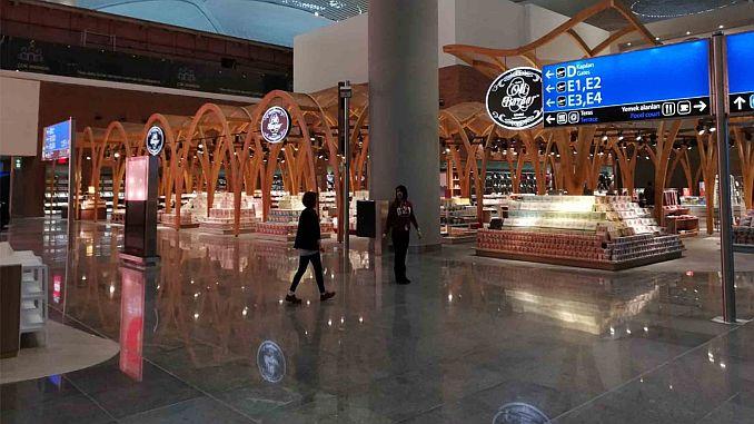 Κάρτα ποδιάς 44 στο αεροδρόμιο Ατατούρκ 120 στο αεροδρόμιο της Κωνσταντινούπολης