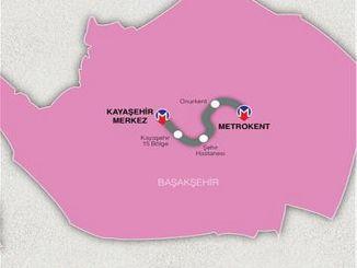 линия метро Basaksehir Kayasehir