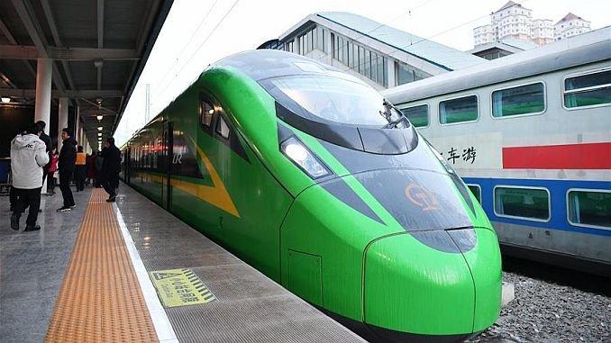 cinin bullet train starts in lanzhou chongqing