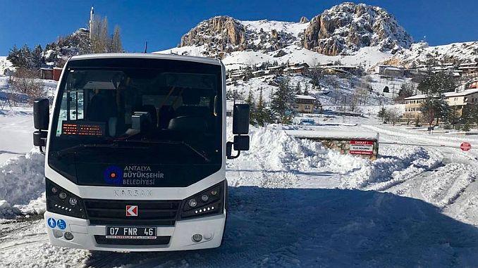additional free bus service to Saklikent ski center