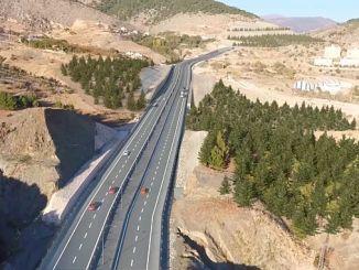 amasya cevre yolu landslide islahi kopru ustyapi work