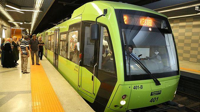 bursanin metro line länge 1144 kmya