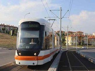 udhëtimet e provave filluan në linjën e tramvajit në spitalin Eskisehir