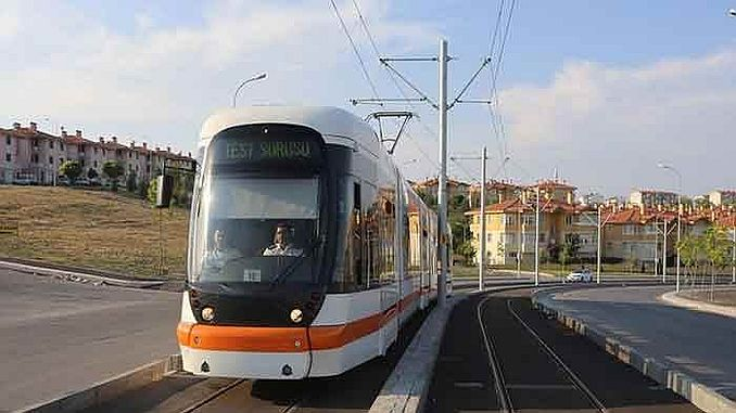 test vožnja je počela u tramvajskoj liniji gradske bolnice Eskisehir
