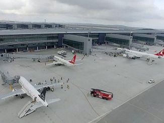 Istanbul airport 3 annually 187 bin 553 u curdu