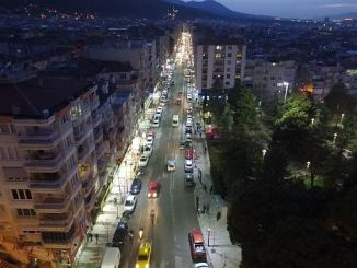 modern lighting in izmir street