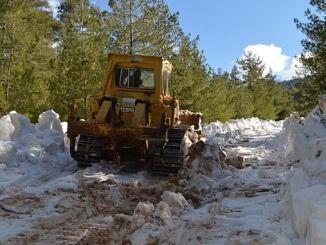 снег закрывает Hisarçandır в борьбе за Коньяалты путь aciliyor