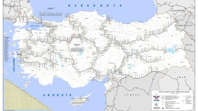 tcdd железопътна карта 2019