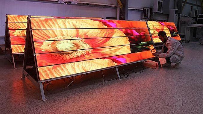 LEDs display the first domestic factory turkiyenin