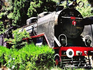 The 'Black Train' Exhibited in Burdur Train Station