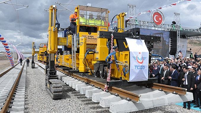 ankara sivas yht line first rail paving