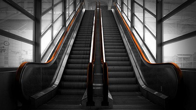 escalera en la capital