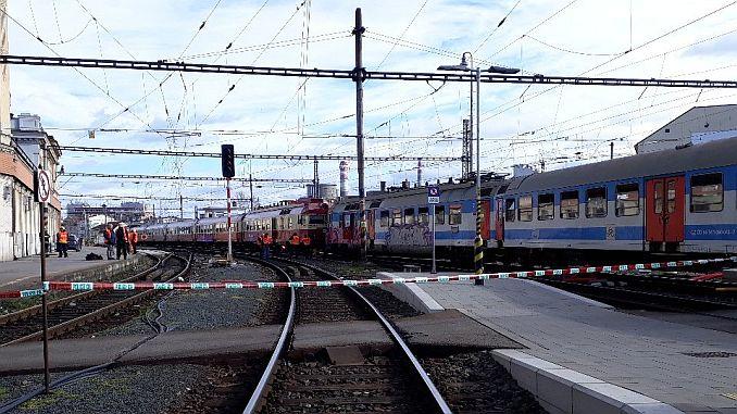 twee treinen in de Tsjechische Republiek