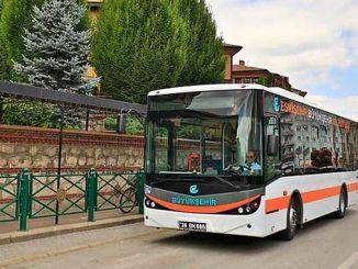 В Эскишехире много автобусов