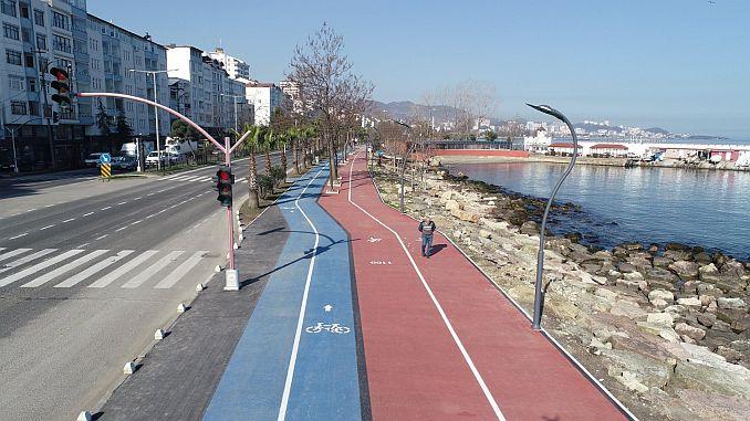 fatsa kosu and bicycle path ready for service