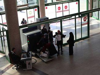 seguridad ulasimpark en la terminal de autobuses terminal