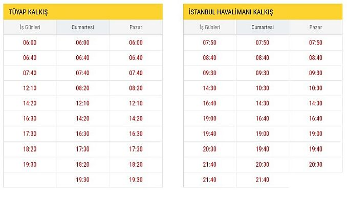 ST Tüyap Istanbul Airport Departure Hours