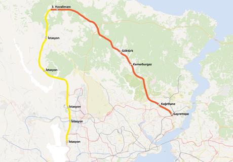 Gayrettepe New Airport Metro Line map