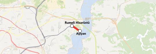Rumeli Hisarüstü Aşiyan Funicular Line map