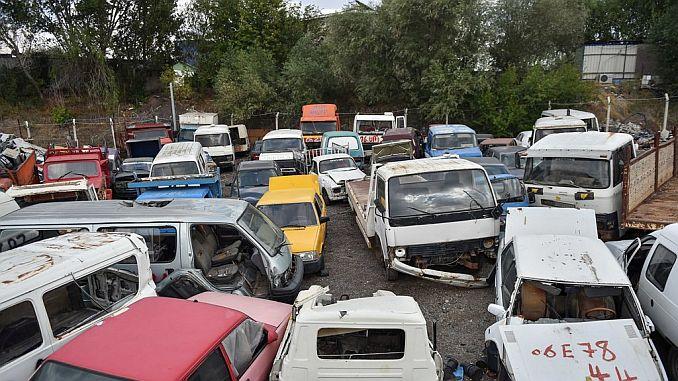 ankara is collecting large scrap vehicles