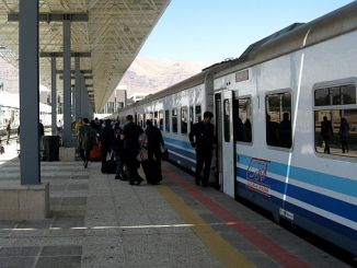 Ankara, um den Zug nach Teheran zu beginnen