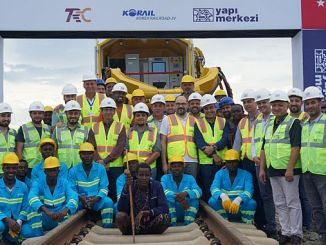 the first rail to be bought in the narrow es salaam morogoro railway project