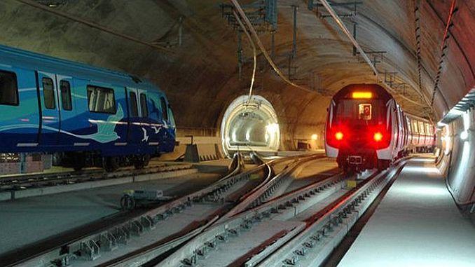 Metro tram and finikuler lines in Istanbul