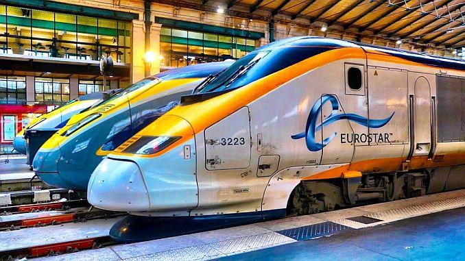 high speed train mans tunelinin eurostar