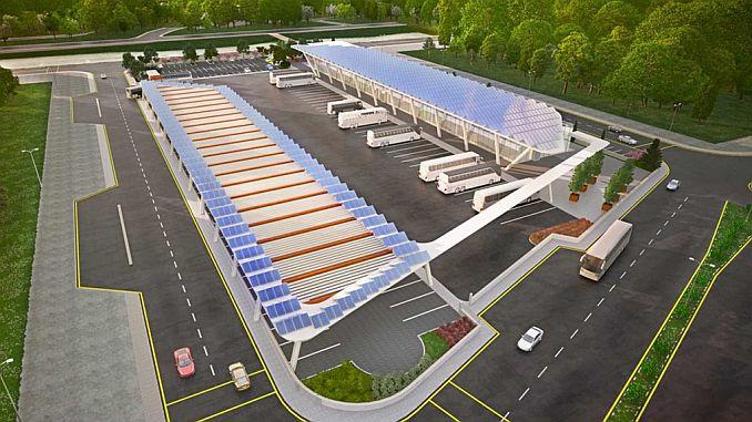 hæren intercity bus terminal vil producere sin egen elektricitet