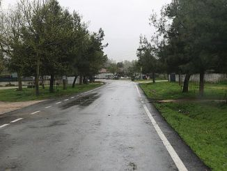Trabajos de renovación de asfalto del barrio de Pamukovanin.