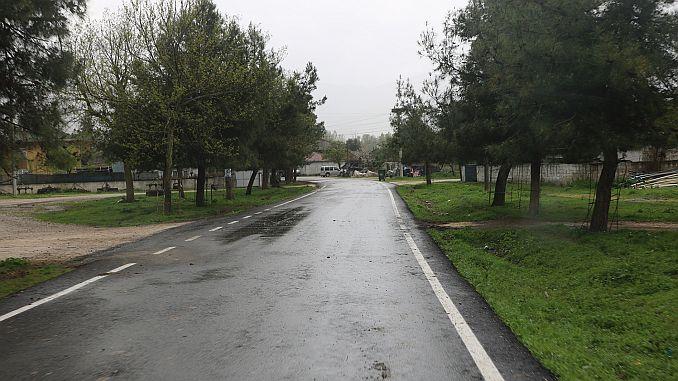 Pamukovanin buurtvernieuwing van het asfalt