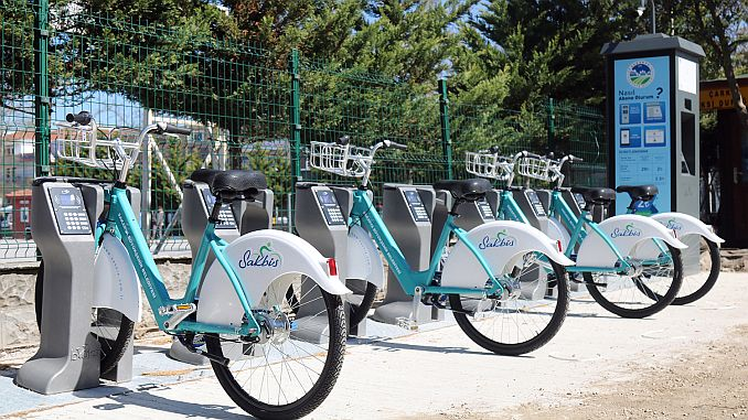 Sakarya smart bike application serves at different points
