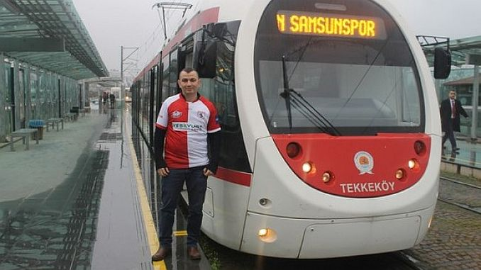 tram clock for samsunspor sariyer maci