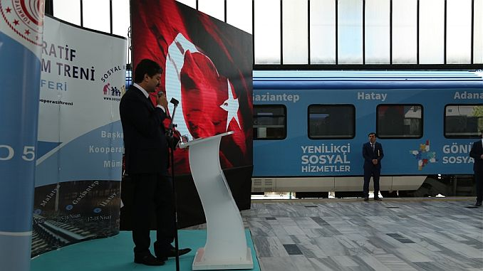 social cooperative training and promotion train reached the second stop