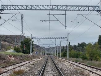 high voltage warning for tcddden balikesir bursa line
