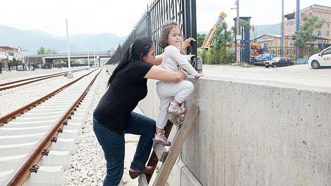 Bursa T tranvía ciudadanos estaban en una situación difícil