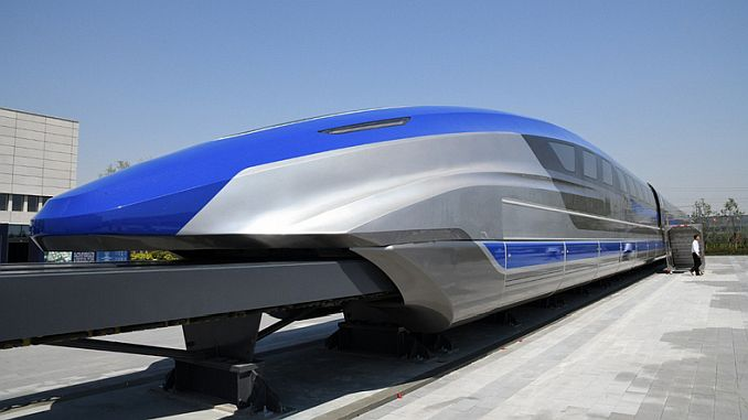 gin introduceert het prototype trein zal snel gaan in kilometers per uur