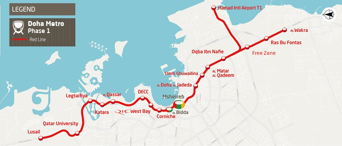 doha metrosunun ilk hatti acildi